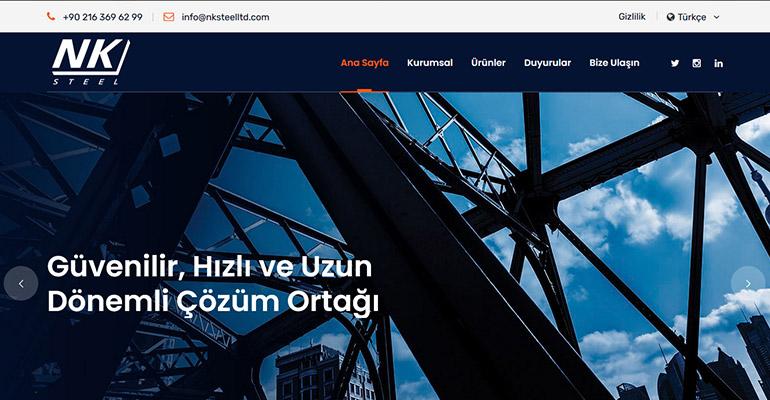 NK Steel Kurumsal Web Sayfası Yenilendi